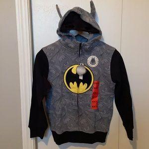 Batman Hoodie with Ears and Mask on Hood